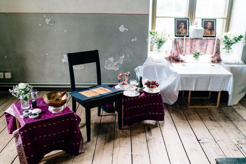 hääkuvaus suomenlinna pirunkirkko shambhala alttari