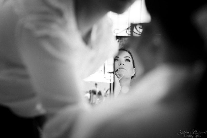 hääkuvaus helsinki aamun valmistelut morsiamen meikkaus